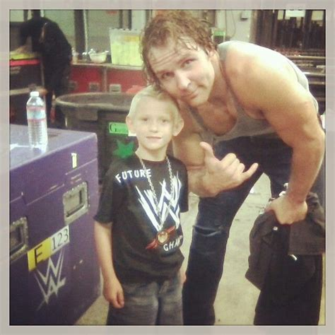does dean ambrose have kids posing with a fan shield tho they broke up pinterest
