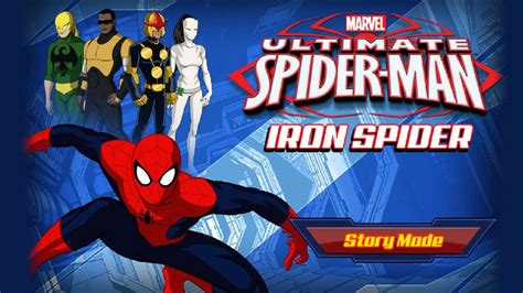 ultimate spider man iron spider disney xd marvel game