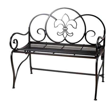 black metal garden bench manual weavers 40quot black metal outdoor garden bench