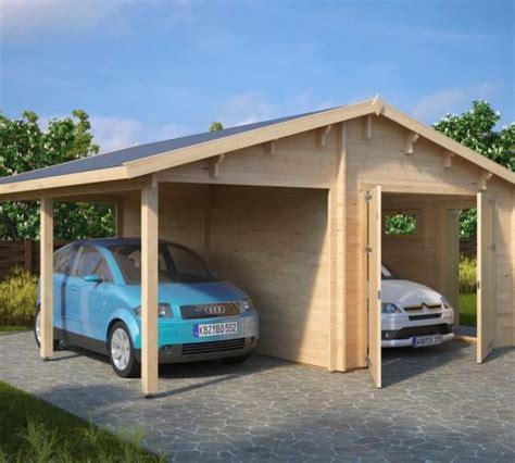 garagen carport kombination garage and carport combination type g 44mm 6 x 6 m