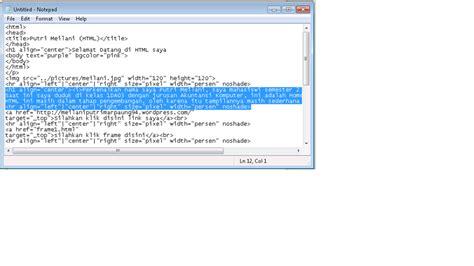 format tilan gambar html menyisipkan gambar link frame tabel dan form ke dalam