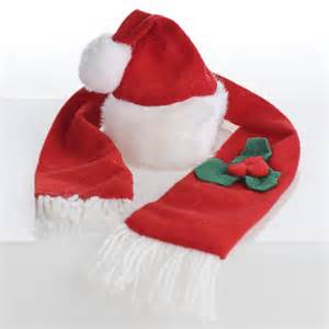 small christmas hat and scarf set doll hats doll