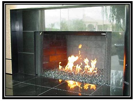 glass rock for pit fireplace design ideas