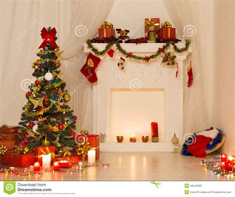 christmas room interior design xmas tree decorated by
