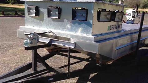 pontoon boat trailer modifications diy pontoon bowfishing boat part 2 doovi