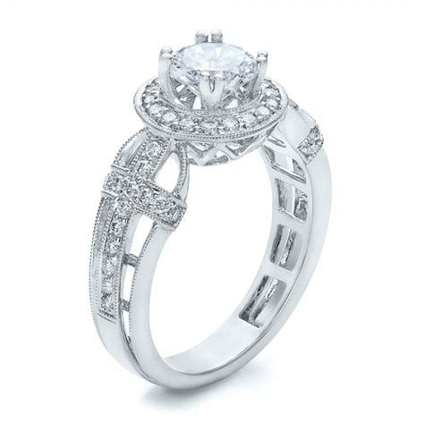 halo and cross engagement ring vanna k 100667