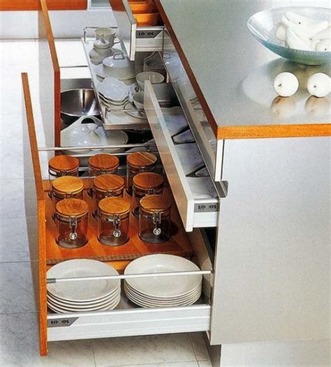 Kitchen Drawer Organization Ideas 35 Functional Kitchen Cabinet With Drawer Storage Ideas