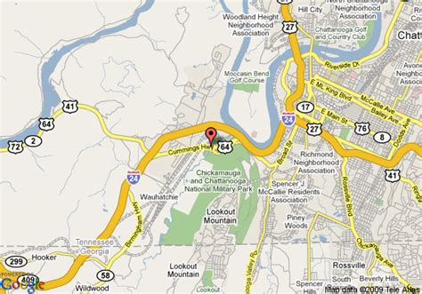 chattanooga map pin chattanooga tn map on