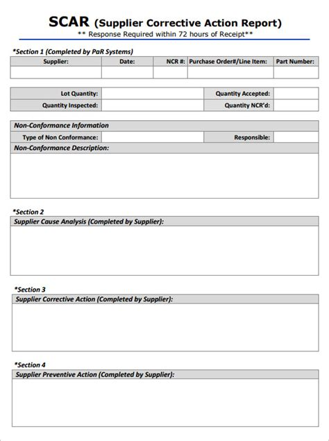 corrective report form template 8 corrective report templates free word pdf