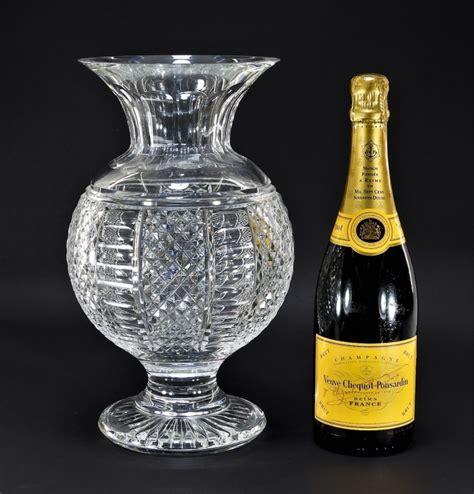 Large Waterford Vase by Large Waterford Globular Vase