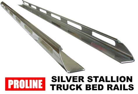 truck bed side rails proline silver stallion truck side bed rails