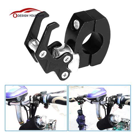 Standhook Cnc Universal 7 8 quot 22mm cnc aluminum motorcycle moto handlebar luggage helmet bag hanger hook universal holder