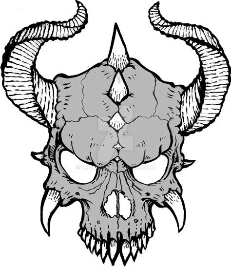 Skull L by Horned Skull By Hirschler On Deviantart