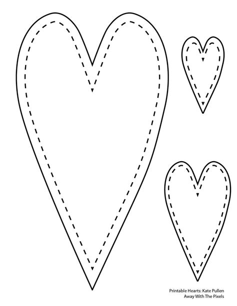 ft pattern words 6 free printable heart templates