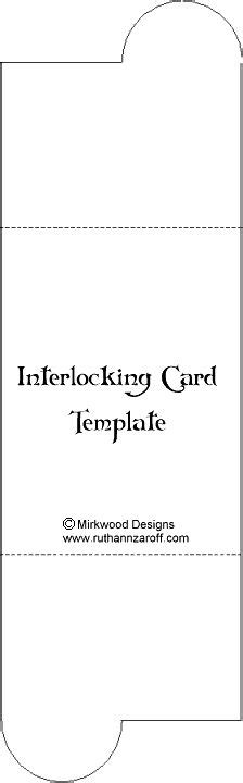 Interlocking Card Template by 1000 Ideas About Card Templates On
