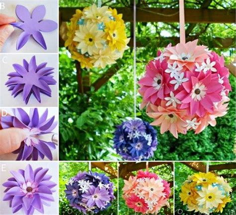 Paper Hanging Crafts - diy hanging paper flowers diy craft crafts easy crafts diy