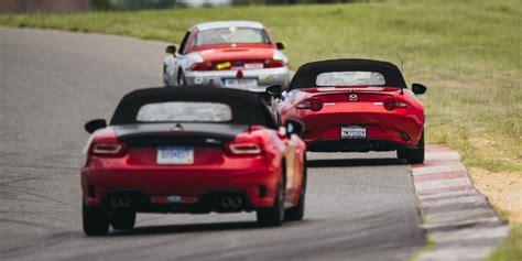 124 Vs Miata by Mazda Miata Vs Fiat 124 Abarth Miata And Fiat 124 Track