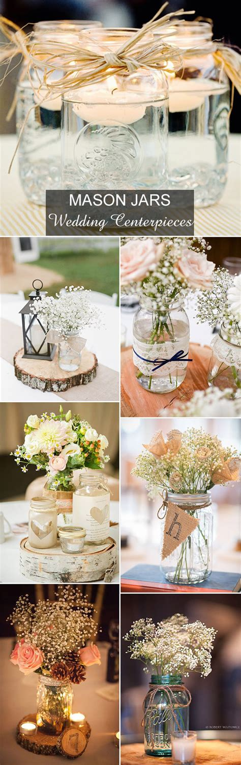 rustic jar centerpieces for weddings rustic wedding ideas 30 ways to use jars