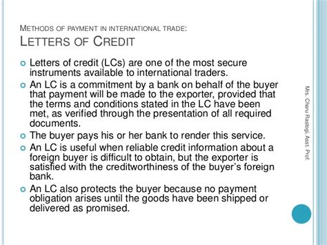 Letter Of Credit In India 5 Methods Of Payment In International Trade Export And Import Finance