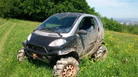 lifted smart car off road smart fortwo the awesomer