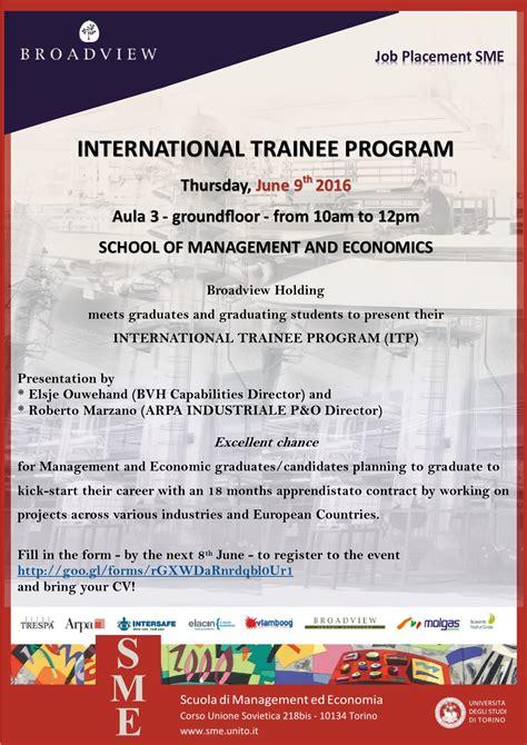 segreteria studenti lettere unito broadview presents international trainee program an