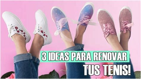 decorar zapatos deportivos diy decora tus tennis zapatillas 3 ideas