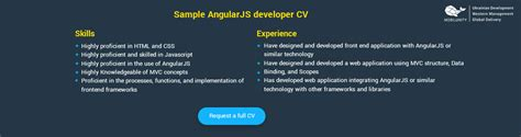 Angularjs Resume by Angularjs Developer React Developer Rates Cvs