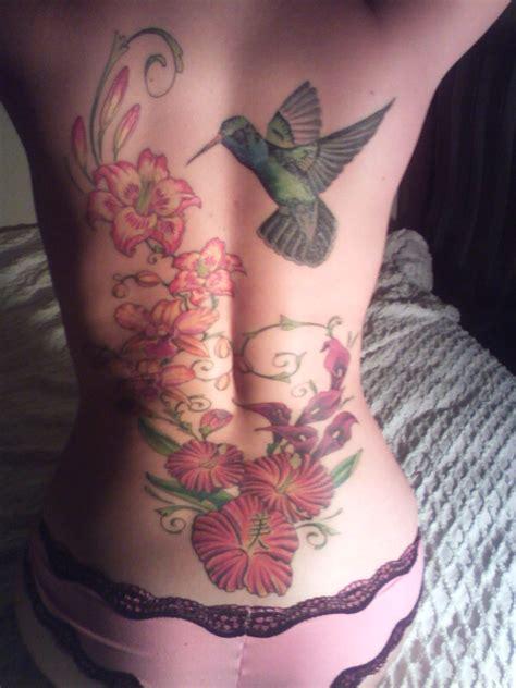 tattoo flower into birds hummingbird and flower tattoos hummingbird tattoos with