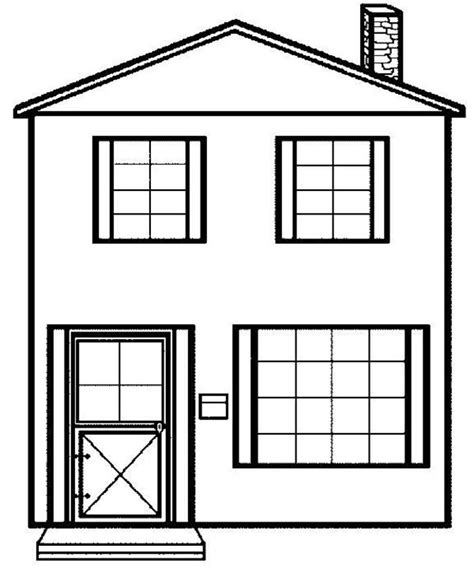 how to color a house simple house picture in houses coloring page netart