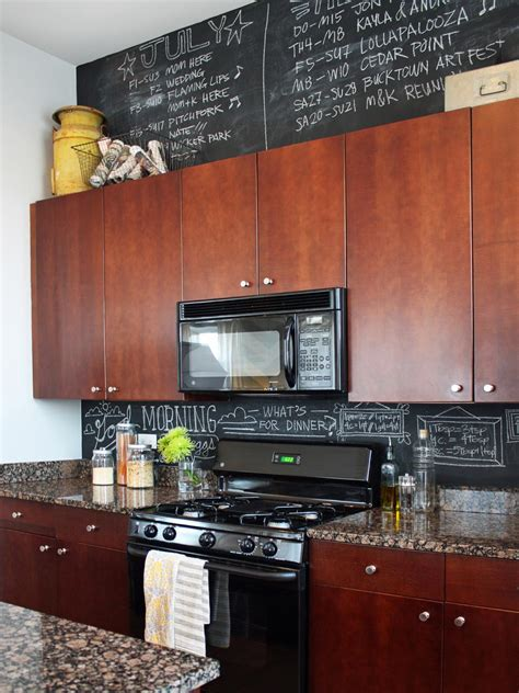 chalkboard kitchen backsplash photos hgtv