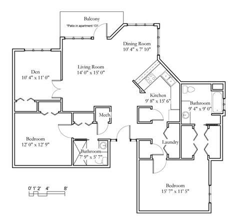 garden apartments 2 bedroom 1 bath 875sqft meadowlark hills continuing care retirement apartment sle floor plans meadowlark hills
