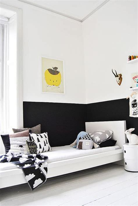 half bedroom kids half painted bedroom design