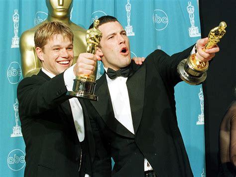 Oscars 2016 See Matt Damon Celebrate As He Picks Up His