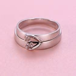 matching wedding bands inexpensive shape couples matching wedding band rings on silver jewelocean