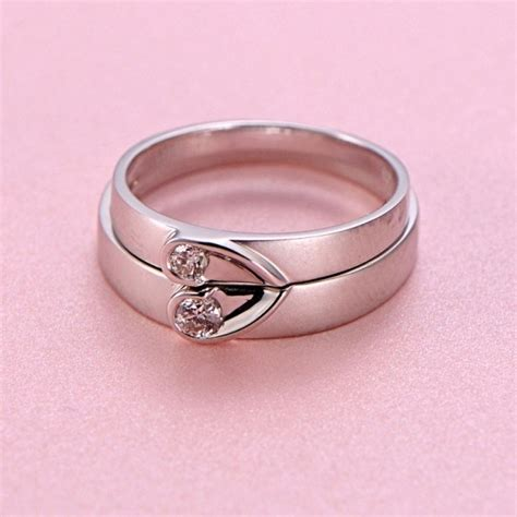 inexpensive shape couples matching wedding band
