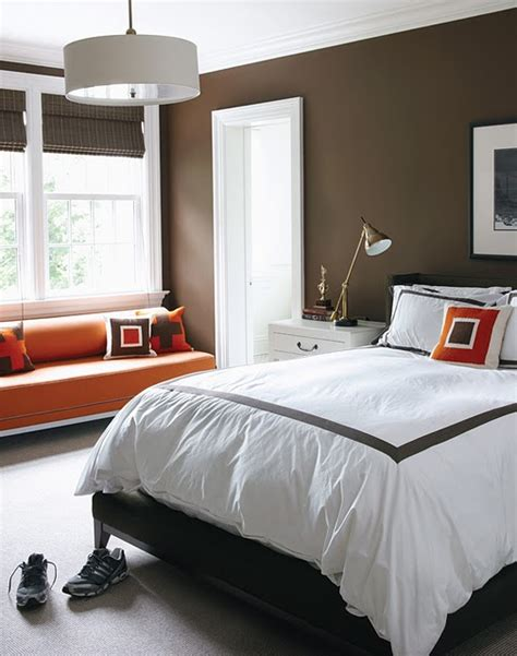 chocolate bedroom color schemes taupe orange ivory design indulgences