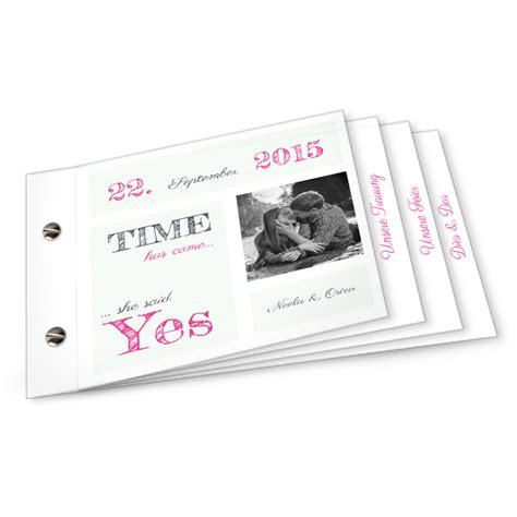 Hochzeitseinladung Booklet Selbst Gestalten by Hochzeitseinladung Booklet Neela Und Oscar Weiss