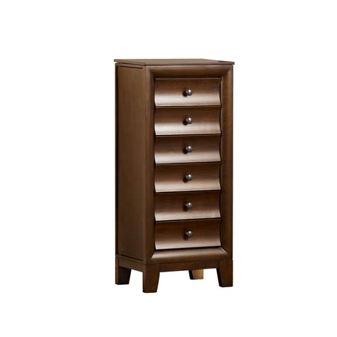 walnut jewelry armoire cherish all your favorites at sears