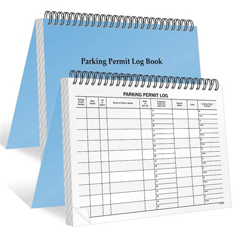 parking permit templates parking permit log books myparkingpermit