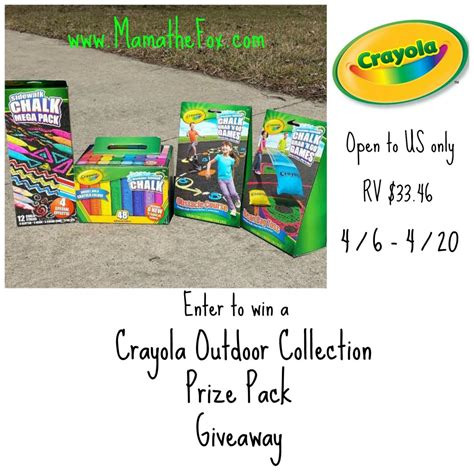 Outdoor Giveaway - mamathefox crayola s outdoor collection giveaway
