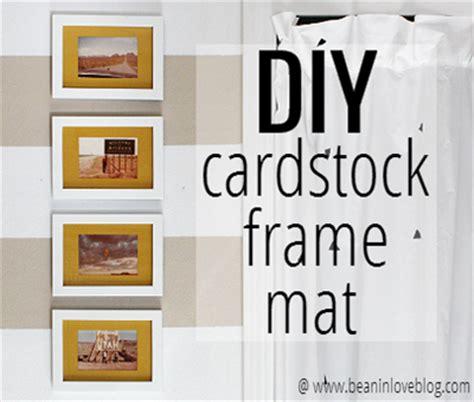 diy picture frame matting colors diy cardstock mat bean in love