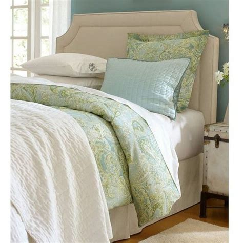 pottery barn ardley upholstered headboard 649 liked on