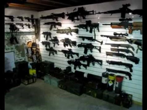 airsoft gun collection armory war room