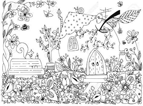 gambar mewarnai pemandangan taman bunga anak tk paud
