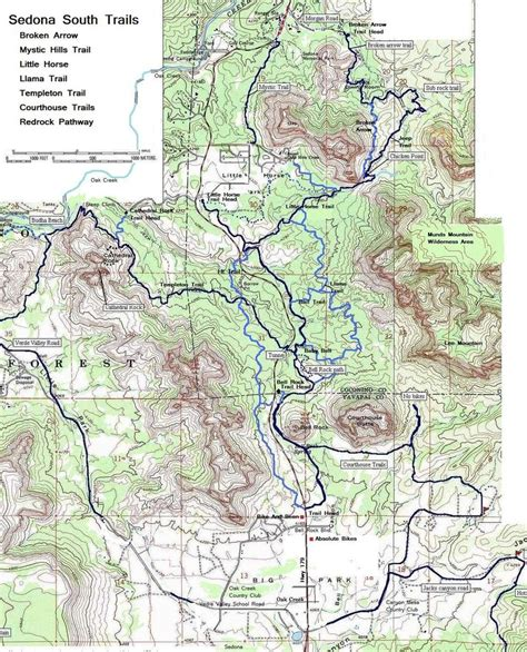 sedona map sedona south mountain bike trails maplets