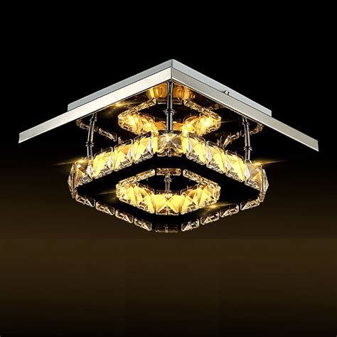 Ceiling Chandeliers Modern Modern Square 20cm 12w Led Ceiling Lights Chandeliers Aisle Light L