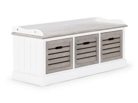 Banc De Rangement Bois De Paulownia Blanc 3 Tiroirs Banc De Lit Coffre Ikea