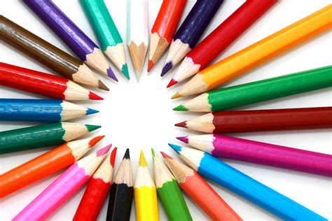 pencils that change colors colored pencil on top of white surface 183 free stock photo