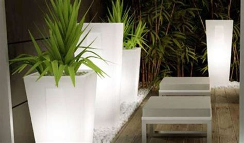 vasi da esterno illuminati illuminazione terrazzo foto 4 30 design mag