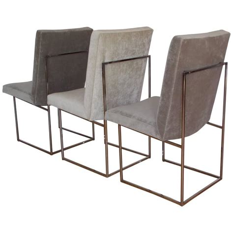 three milo baughman occasional dining chairs at 1stdibs